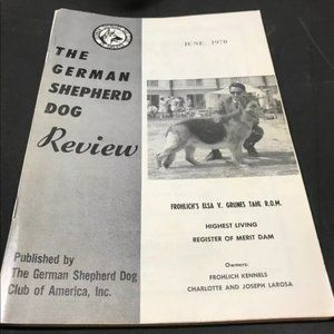 German Shepherd Dog Review June 1970 Collectible